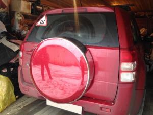 Бокс (чехол) запасного колеса из нержавеющей стали ( 225/70R16, 235/60R16 ) Suzuki GRAND VITARA|escape:'html'