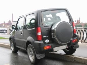 Бокс (чехол) запасного колеса из нержавеющей стали 215/70R16, 205/70R15, 195/80R15 Suzuki Jimny (Сузуки ДЖИМНИ)