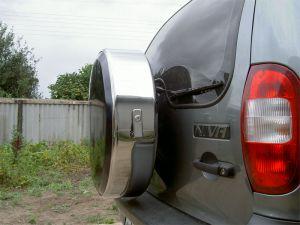Бокс (чехол) запасного колеса из нержавеющей стали (215/65R16, 205/70R15; 205/70R16; 205/75R15) Шевроле-Нива (Chevrolet Niva)|escape:'html'