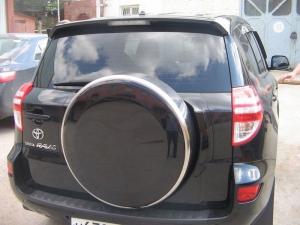 Бокс (чехол) запасного колеса из нержавеющей стали (225/65R17; 235/60R16) Toyota RAV4