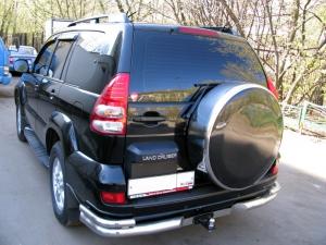 Бокс (чехол) запасного колеса из нержавеющей стали (265/70R16; 265/65R17; 265/60R18) Toyota LAND CRUISER PRADO 120