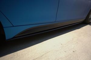 Накладки на пороги BMW 3-series (F30) INMAX. Аналог накладок М-порогов (OEM 51778056579, OEM 51778056580). Черные матовые.
