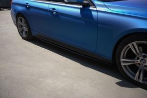 Накладки на пороги BMW 3-series (F30) INMAX. Аналог накладок М-порогов (OEM 51778056579, OEM 51778056580). Черные матовые.|escape:'html'