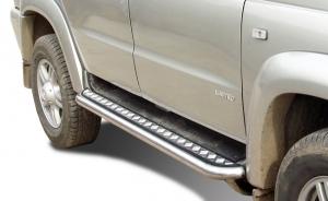 Пороги RALEX-TUNING с алюминиевым листом, труба 63,3мм УАЗ ПАТРИОТ