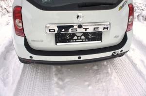 Накладка на задний бампер (большая). Renault Duster (Рено Дастер). RALEX-TUNING