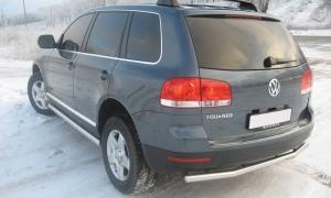 Защита заднего бампера RALEX-TUNING 63.5 мм Volkswagen TOUAREG (2006)