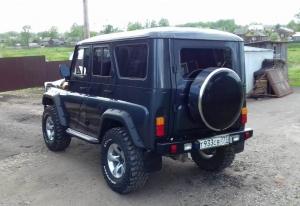 Бокс (чехол) запасного колеса RALEX-TUNING из нержавеющей стали 245/75R16 УАЗ ХАНТЕР ( UAZ HUNTER )